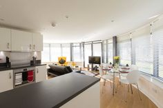 Living Area, The Apex Serviced Apartment, St.Albans