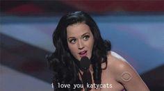 "Katy Perry gif ""I love you katycats""  Follow Katy, Pinterest tagged below ☺️"