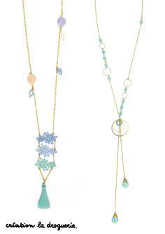 Les couleurs aquarelles seront sur vos bijoux cet été !! #ladroguerie #bijoux #collier