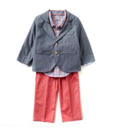 Class Club 2T-7 Jacket, Plaid Shirt, & Pant Set