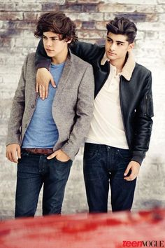 Harry and Zayn at teen vogue photo shoot