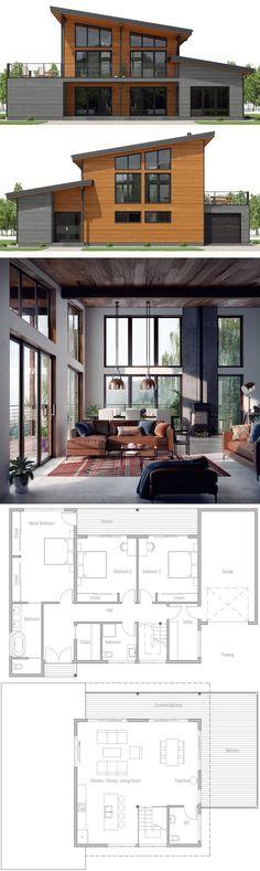 house flooring Home Plan, House Plan, Fl - New House Plans, Modern House Plans, Modern House Design, House Floor Plans, Terrace Design, House Blueprints, Sims House, Architecture Design, Plans Architecture