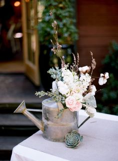 watering can wedding vase