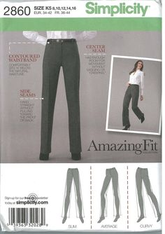 Simplicity 2860 UNCUT sewing pattern, Size 8 thru 16