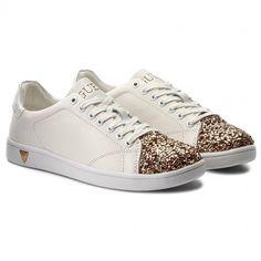 Sneakersy GUESS - Super FLSPR3 LEA12 WHIGO