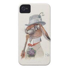 Funny Vintage Anthropomorphic Rabbit