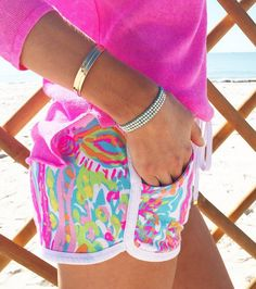 Lilly Pulitzer Chrissy Beach Short in Scuba to Cuba