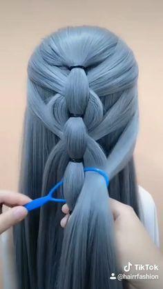Cool Braid Hairstyles, Elegant Hairstyles, Cool Braids, Braids For Long Hair, Step By Step Hairstyles, Simple Mehndi Designs, Diy Home Crafts, Bridal Makeup, Hare