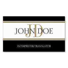 216 best interpreter business cards images on pinterest in 2018 interpretertranslator gold stripe ww business card template colourmoves