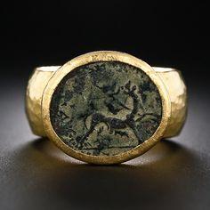 Gurhan 24 Karat Gold Ancient Coin Ring - 30-1-5130 - Lang Antiques