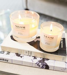 Neom believes in wellbeing, and their candles and diffusers are natural, and created with the intention of aiding you in relaxing and keeping calm when the stresses of every day life take their toll. Organic Cleaning Products, Pure Products, Homemade Scented Candles, Hamper Ideas, Creative Office Space, Home Comforts, Diffusers, Pure Essential Oils, Candle Jars