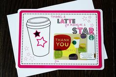 Thanks-A-Latte #dance #teacher #gift - THE Pin It Party Pick Week #8 @ Creative Geekery