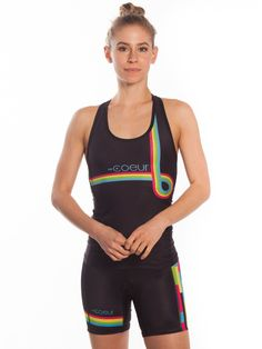 Women's Triathlon Tops Our women's tri tops are designed to work with our tri shorts as a complete system. Just like our tri shorts, the tops have incredibly soft fabric. They also feature a longer to