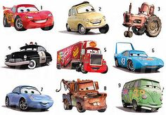 DISNEY CARS STICKERS WALL DECO DECAL OR FABRIC TSHIRT TRANSFER