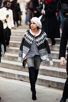 Miroslava Duma. icelandic sweater.