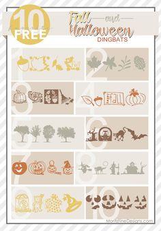 10 Free Halloween & Fall Dingbat Fonts www.MoritzFineBlogDesigns.com