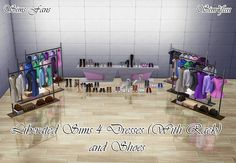 Liberated Sims 4 Dresses and Shoes by Sim4fun at Sims Fans via Sims 4 Updates