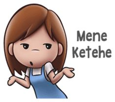 She is an annoying girl. Cute Cartoon Girl, Cute Love Cartoons, Annoying Girls, Funny Sms, Funny Caricatures, All Meme, Super Funny Quotes, Cartoon Jokes, New Sticker