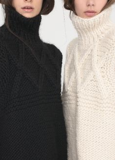 Chunky turtlenecks, always. Apiece Apart Fall 2013.