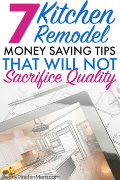 """Ways to Save Money"" Planning a kitchen remodel? How you can save money remodeling your kitchen and still get everything you want! Don't plan your dream kitchen until you learn these expert tips on yo Ways To Save Money, Money Saving Tips, Diy Kitchen Remodel, Kitchen Remodeling, Condo Remodel, Remodeling Ideas, Budget Planer, Kitchen On A Budget, Kitchen Ideas"