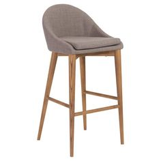Euro Style Baruch 30-in. Bar Stool Dark Gray - 38678DKGRY