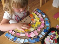 I can make a rainbow . Use cut up magazine pics , paint chips, kids own colouring pictures  Draw rainbow on table children are actually sorting while making rainbow  Activities and ideas to support 'learning through play' in the early years.