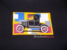Henry Ford Museum Model T Automoblie T Shirt Size Large Dark Blue #Unbranded…