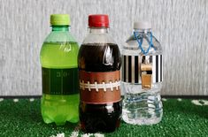 Create these themed drinks for your Murder Off The Field mystery using the bottle wrap designs included with the MYSTERY!!!