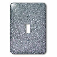 Sven Herkenrath Glitter - Silver Glamour Glitter Style - Light Switch Covers - single toggle switch (lsp_236472_1)
