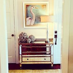 We are loving @krystineedwards  heron-hallway! Mixing metallics and natural elements creates visual interest we just can't take our eyes off of! #HomeGoodsHappy via Instagram