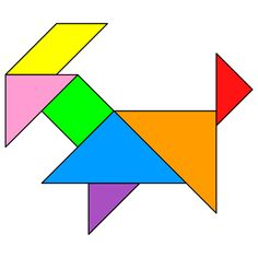Tangram Goat - Tangram solution #145 - Providing teachers and pupils with tangram puzzle activities