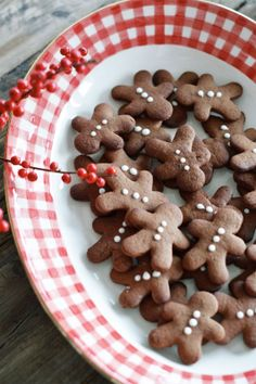 Spiced gingerbread cookies!