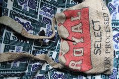Handmade Coffee Bean Burlap Bags by CaTurtle03 on Etsy, $75.00