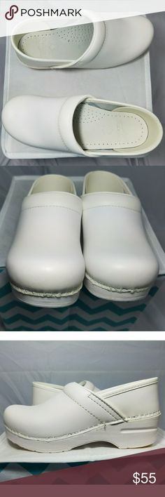 🚑Dansko Nursing Shoes🚑 🛍Bundle & Save🛍  》Purchase these shoes with a scrub outfit and get a discount & a free gift. Or purchase these for price below《   ℹWhite Dansko nursing clogs. Only worn for about 3 months. Still in great, used condition. Flaws are in pictures. The only true flaw is, the bottoms have a small amount of wear to them. You can, even, still smell the leather on them, as if they were just out of the box. 😲  🆓 gift with all bundles! Dansko Shoes Mules & Clogs