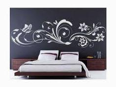 Výsledek obrázku pro malování na zeď květiny