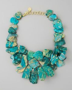Clustered Turquoise Jasper Necklace by Nest at Neiman Marcus.
