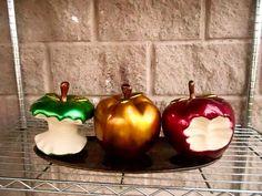 manzanas hechas en el mundo de ceramica Kitchen Ornaments, Biscuit, Clay, Apple, Macedonia, Vegetables, Pretty, Handmade, Home Decor
