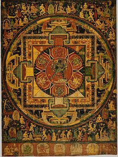 Paramasukha–Chakrasamvara Mandala, ca. 1100 The earliest known Nepalese painting on cloth (paubha).The careful treatment of details throughout the painting exemplify the best of Nepali painting and foreshadow the influence of this artistic tradition in Tibet during the thirteenth through sixteenth centuries.