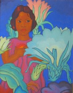 Hawaiian Woman   by Arman Manookian Paper Print Repro