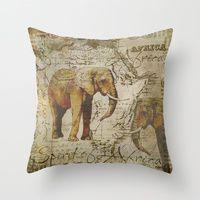 Throw Pillow featuring Spirit of Africa by LebensART