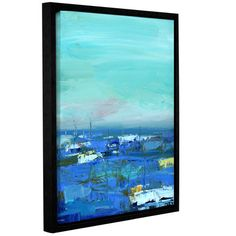 """Breakwater Bay Abstract Harbor 8 By the Water Framed Painting Print on Wrapped Canvas Size: 24"""" H x 18"""" W x 2"""" D"""