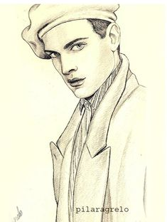 Men's fashion illustration style by Pilar