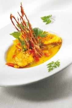 Recette - Nage de lotte au curry et coco   750g