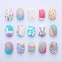 Easy peasy Easter designs with Barry M Cosmetics NEW Speedy Nail Paint and NEW Gelly Hi-Shine Nail Paints.Nails by Sophie Harris-Greenslade EASTER! Easter Nail Designs, Easter Nail Art, Nail Designs Spring, Cute Nail Designs, Christmas Nail Art, Holiday Nails, Animal Nail Art, Kawaii Nails, Trendy Nail Art