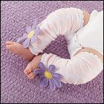"""Bloomin"" Legwarmers for Baby"