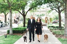 Downtown Winter Garden Engagement Session with Dogs - Photo by Best Photography - click pin to see more - www.orangeblossombride.com