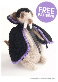 Dracula Meerkat Pattern | Deramores I'm totally baffled that there's even a demand for this....