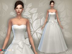 Wedding dress 04 for The Sims 4 by BEO Sims 4 Wedding Dress, Long Wedding Dresses, Bridal Dresses, Sims 4 Tsr, Sims Cc, Maxis, Sims 4 Dresses, Sims 4 Clothing, Female Clothing