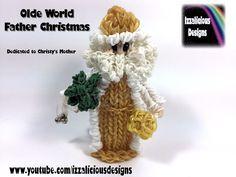 Rainbow Loom Olde World Father Christmas.Santa.St Nicolas Action Figure.Doll.Charm (Xmas)