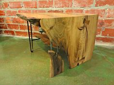 Cooper Meaders' amazing two-tiered reclaimed coffee table. Non-toxic stain from @The Green Painter